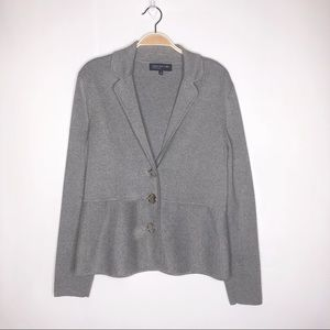 Jones of New York Sweater Gray Size Large